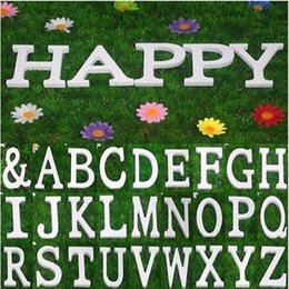 Wholesale White Wooden Letters - Hot Sale 27PCS SET Home Decor Decoration thick Wood Wooden White Letters Alphabet Wedding Birthday 8cmX1.2cm