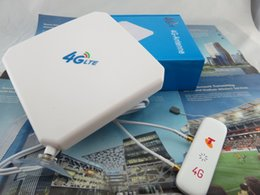 Wholesale Huawei Antenna Ts9 - Wholesale- Original Huawei 3G 4G LTE 35dbi TS9 2M External Antenna + ZTE MF823 4G LTE FDD 800 900 1800 2600Mhz USB Mobile WiFi Modem