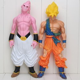 Wholesale Cell Action Figure - 44cm Super Big Son Goku Action Figure Super Saiyan Buu Prefect Cell Dragon Ball Z PVC Collection Model Kids Toy Christmas Gift