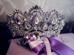 Wholesale Unique Bridal Hair Accessories - Sparkling Princess Rhinestones Bridal Tiaras 2016 Crystal Crown Charming Wedding Accessories Unique Bridal Head Pieces Free Shipping CPA265