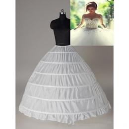 Wholesale Cheap Black Bridal Petticoat - Super Cheap Ball Gown 6 Hoops Petticoat Wedding Slip Crinoline Bridal Underskirt Layes Slip 6 Hoop Skirt Crinoline For Quinceanera Dress