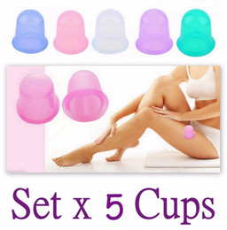 Wholesale Silicone Cupping Massage Cups - 5pcs set Silicone Massage Cupping Cup Anti Cellulite Cup Health Care Body Vacuum Eye Neck Face Back Massager Suction Cup Beauty Care Hot Sa