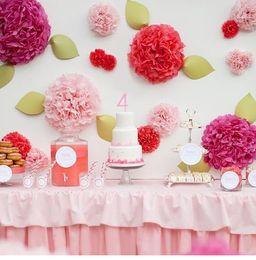 Wholesale Artificial Tissues - 1pcs lot 25cm Artificial Paper PomPom Tissue Flower Balls for home wedding party car decoration mariage crafts Boda Supplies