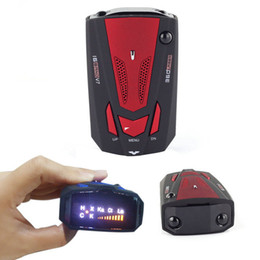 Wholesale Car Radars - EDFY New Car Radar Detector 16 Band Voice Alert Laser V7 LED Display detetor red color hot selling