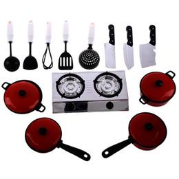 Wholesale Toy Pot Set - Wholesale- 13 Sets Pots and Pans Kitchen Cookware For Children Play House Toys, Simulation Kitchen Utensils