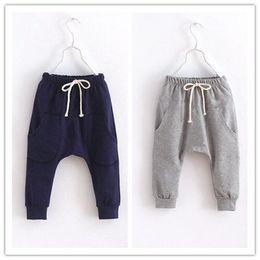 Canada Terry Tissu Garçons Harem Pantalon 2016 Brand New Enfants Vêtements Enfants Sport Pantalon Garçon Vêtements Marine Gris Casual Pantalon En Gros Offre