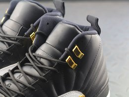 Wholesale Chinese Wing Shoes - Original Air Retro 12 12S Psny Suede Wings Wool Playoff Rising Sun Chinese New Year 3M Reflective Men Basketball Shoes Real Carbon Fibers