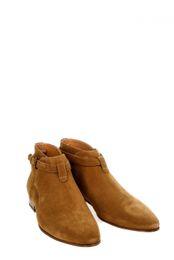 Wholesale Men Pointed Short Boots - Exclusive customized NEW Model 2016 Paris London Qing-Zhilong Short Ankle Brown Cross straps JODHPUR Catwalk Suede Boot