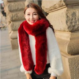 Wholesale Grey Animal Print Scarf - 2016 FW Rabbit Fur Scarves For woman Autumn Lady's Echarpe Genuine Rex Rabbit hair Scarves Wraps Winter Women Fur Accessory Rings Females Ne