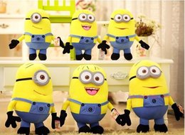 Wholesale Despicable Plush Doll Toy - 100pc 22-25CM 3D Toys Despicable Me Plush Toys Kids Stuffed Dolls Jorge Dave Kids Plush Dolls Christmas Gift free shipping