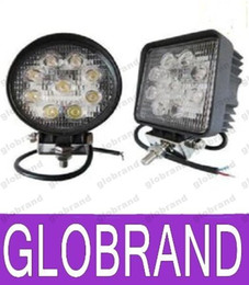 Wholesale Led Offroad Spot 27w - 4 inch 27W led work light lamp offroad Spot Flood 12V led tractor work lights for Trucks off road 4X4 car ATV boat fog driving GLO417