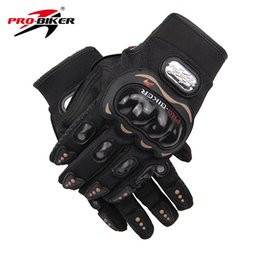 Wholesale Luvas Pro Biker - Wholesale-Free Shipping! PRO-BIKER Motorcycle Off Road Full Finger Gloves Luvas Motocross Off Road Racing Riding Gloves Size : M L XL XXL