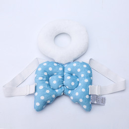 Wholesale kapok pillows - Baby Head Protection Pillow Child Protective Pad Cute Angel Wings Baby Walker Anti Fall Head Hurt Protector Backpack Pad Pillow