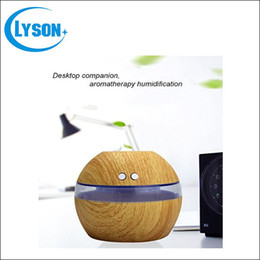 Wholesale Cool Mist Ultrasonic Impeller Humidifier - Ultrasonic Air Humidifier Essential Oil Wood Grain Oil Diffuser Aromatherapy Office Home SPA Wood Grain USB Aroma Humidifier