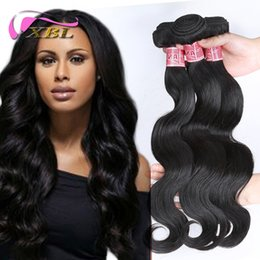Wholesale Hair One Bundle - XBL Different Human Hair Extensions 3 Bundles Brazilian Indian Peruvian Malaysian Virgin Human Hair Within One Free Bundles Or Top Closure