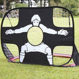 Wholesale Shot Target - Children Kids sports toy mini Dual-use Foldable Portable Football soccer ball Target Shot Goal Net Door Gate