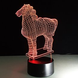 Wholesale Star Shaped Candles - horse shape Remote control lamp creative 3d night light bulb led touch table lamp gift night lamp bluetooth speaker FREE DHL 007