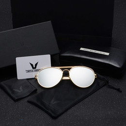 Wholesale Thick Frame Sunglasses - Free Shipping Hot Selling Cheap Price High Quality2016 New South Korean V-Shaped Sunglasses Men Sunglasses Tide Thick Metal-Rimmed Glasses