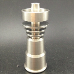 Wholesale Nails Cut Designs - (wholesale best price)gr2 domeless titanium nail direct inject design fits 14 19mm male glass joint