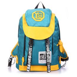 Wholesale Backpack Tote Bags - Large capacity backpack women's leisure sports wear waterproof backpack spell color zipper bag