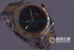 Wholesale Mens Roman Watches - LUXURY WATCH Stainless Steel Bracelet II SLATE GREEN ROMAN 40mm 18K & STEEL 116333 MENS WRIST WATCH Automatic MAN WATCH Wristwatch