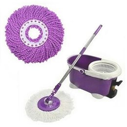 Wholesale Floor Mopping - Wholesale-Durable 360 Rotating Head Easy Magic Microfiber Spinning Floor Cloth Mop Head