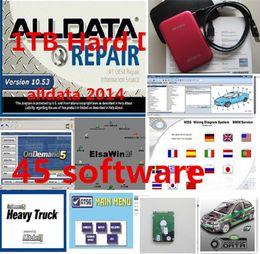 Wholesale Alldata For Heavy Trucks - Latest ALLDATA 10.53 + 2015 Mitchell +Elsa5.2+heavy truck+ vivid car workshop data software +1TB harddisk With 45 software in1TB