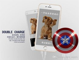 Wholesale Portable Charger Price - powerbank 6800mAh Captain America Power bank USB charger for smart mobile phone 6800mah Universal Portable external battery good price