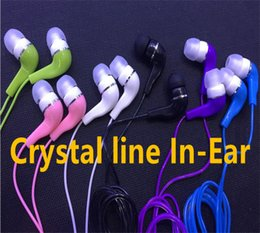 Wholesale Hot Line Phone - Mini 3.5mm headphone Crystal line In-Ear Earphones Earbuds For iphone samsung smart phone mp3 mp4 Hot sell