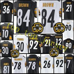 Wholesale Footballs Ryan - stitched #84 Antonio Brown 30 James Conner jersey Men 50 Ryan Shazier 21 JOE HADEN 12 Terry Bradshawjerseys Top sales Free Shipping