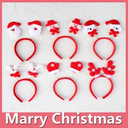 Wholesale Santa Headbands - 2016 Hot Christmas Headband Santa Xmas Party Decor Hair Band Clasp Head Hoop Headwear Christmas Gift Christmas Decoration DHL Free 161014