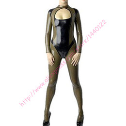 Wholesale Sexy Adult Jumpsuit - Wholesale-Fashion women 2016 sexy latex jumpsuit with socks for adult female clubwear bodysuit plus size Hot sale
