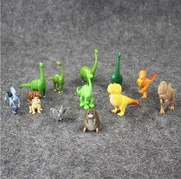 Wholesale Dinosaur Action - 12pcs lot The Good Dinosaur Action Figure Toys 3 - 7cm PVC Cartoon Figure Toys For Children Anime Brinqudoes