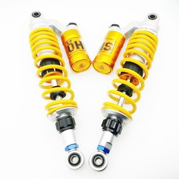 Wholesale Universal Air Suspension - Universal 340mm Motorcycle Air Shock Absorber Rear Suspension For Yamaha Honda Yamaha Suzuki Kawasaki CB400 VTEC XJR400 OHLINS BWS