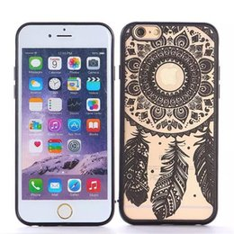 Wholesale Skull Iphone Hard Case - For Iphone 5 5s 6 6s Plus Case Vintage Dream Catcher Tattoo Skull TPU Bumper Hard Case Painted Pattern