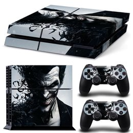 Joker sorriso ps4 adesivo de pele decalque de vinil para sony playstation 4 console + 2 pcs controlador de adesivos de pele protetora (modelo 0435) de Fornecedores de capa de tubarão