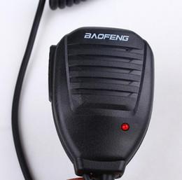 Argentina Baofeng altavoz de mano portátil PTT portátil de color negro altavoz de radio bidireccional micrófono para walkie talkie Baofeng UV 5R 5RA 5RE 5R Plus Suministro