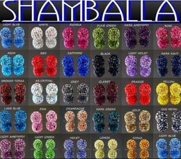 Wholesale Disco Ball Bracelet Flags - free shipping 10mm mixed Micro Pave CZ Disco Ball Crystal Shamballa Bead Bracelet Necklace Beads.Hot spacer beads Lot!Rhinestone DIY spacer