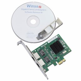 Wholesale Gigabit Pci - Wholesale- Dual Port Gigabit Ethernet Adapter Network Card With Broadcom bcm5715 Chipset