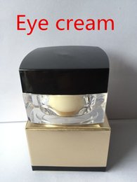 Wholesale Eye Concentrate - Famous Brand Gold-color bottles Eye skin care products deep moisturizing eye concentrate cream free shopping