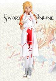 Wholesale Blood Sword - Sword Art Online Asuna Yuuki Cosplay Costume Asuna Yuuki Knights of the Blood Oath Uniform Halloween costumes for women