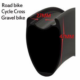 Wholesale Road Wheels Disc - 2017 New Mould 47*27mm wider rim more aero Tubeless Ready V-brake disc brake hubs road bike carbon rim carbon bike rim