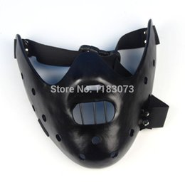 Wholesale Silence Lambs - Film Movie The Silence Of The Lambs Hannibal Lecter Resin Masks Masquerade Halloween Cosplay Dancing Party Props Half Face Mask 5pcs lot