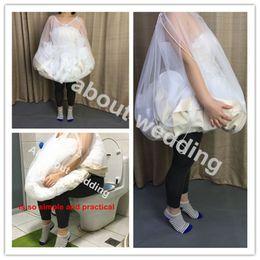 Wholesale Wedding Dress Garments - Bride's Buddy Save You From Toilet Water Bridal Bathroom Helper Wedding Petticoat Bridal Friend Dress Slip Gather Skirt