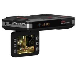 Wholesale Speed Camcorders - V10 2 in 1 Car DVR Camera Vehicle Camera Video Recorder Dash Cam Registrator Camcorder Radar Laser Speed detector Night Vision