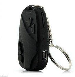 Wholesale Hid Camera Pin - Mini HD 720P H.264 Spy Car KeyChain Video Recorder Hidden Pin Hole Camera Camcorder DVR 808