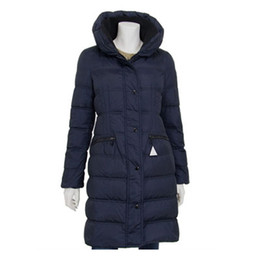 Wholesale Long Goose Coats For Women - Hot Luxury Brand Winter Down Coat Jacket for Women Long Fashion Hooded Clothes Outwear Parkas Colors Sale High Quality