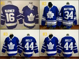 Wholesale Kids Black Ice Jersey - Leafs #16Marner #34 auston matthews #44morgan rielly blue 2016 Cheap Hockey Jerseys ICE Winter mens women kids Stitched Jersey Free shipping