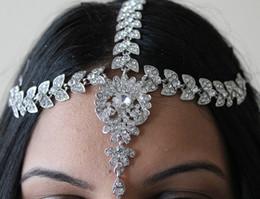 Wholesale Stone Hair Headband - Handmade Kundan Stones Hair Chain Grecian Style Head Chain Head Jewellery
