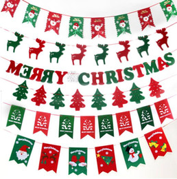 Wholesale Paper Party Store - 2016 New Christmas decorations , Christmas stockings hanging flag, normal paper material, for house party and store, free shipping